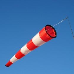 Manche à air blanche et rouge 150 cm