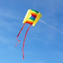 Cerf-volant Sled Beach Kite Rainbow
