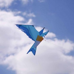 Cerf-volant oiseau bleu