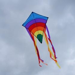 Cerf-volant Rainbow bleu - 2 dimensions