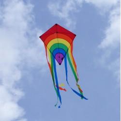 Cerf-volant Rainbow rouge